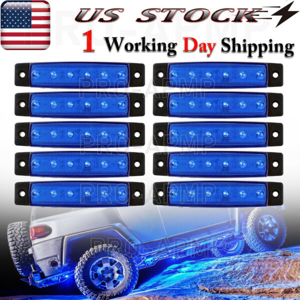 Blue 12 Pods LED Rock Lights Underbody Light For Jeep Offroad Truck UTV ATV Boat