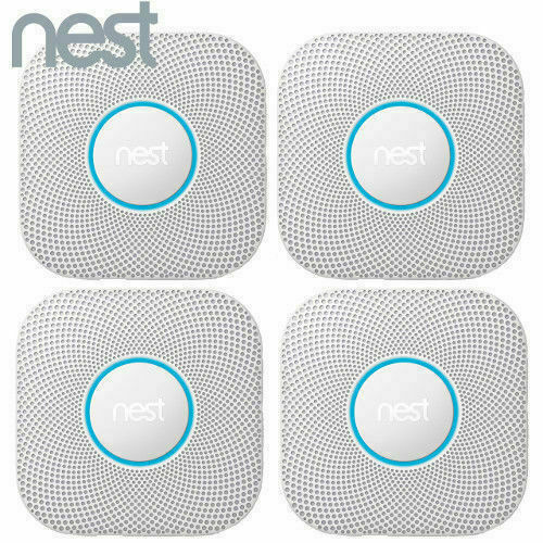 4 Pack Nest Protect Battery Operated Smoke Carbon Detector Alarm 2nd S3004PWBUS $452.27
