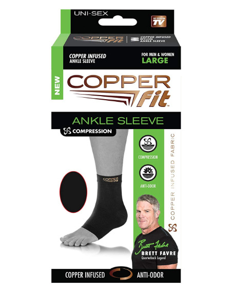 Copper Fit Ankle Sleeve Compression Size Medium or Large