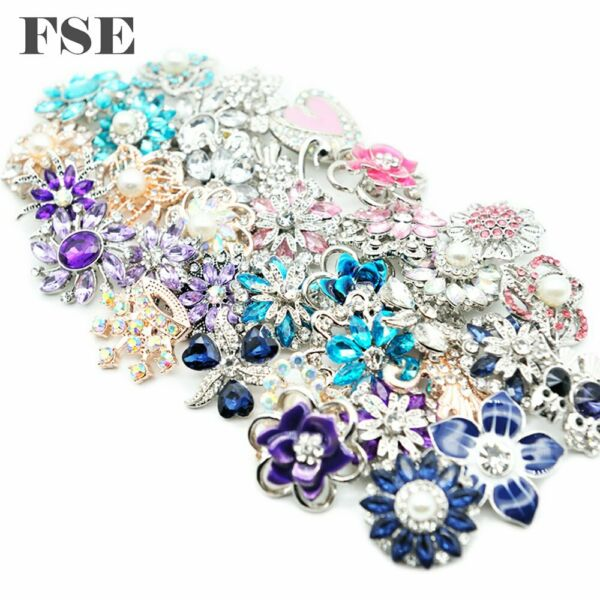 50pcs 18mm Snap Button Multi Mix Rhinestone Snap Charms For 20mm Snap Jewelry
