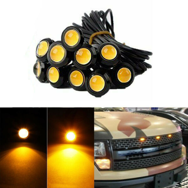 10X Marker LED Amber Grille Grill Lights Decoration For Toyota Tacoma Tundra etc