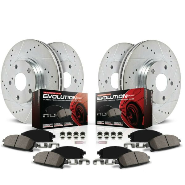 K5965 Powerstop Brake Disc and Pad Kits 4-Wheel Set Front & Rear New for Ford
