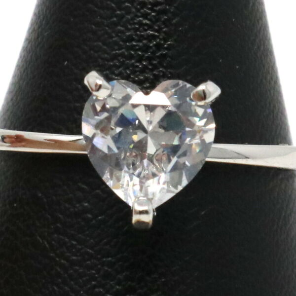 Shinning Heart Moissanite Ring Women Wedding Engagement Birthday Jewelry Gift