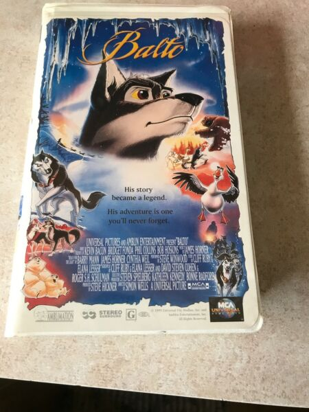 Balto (VHS 1999 Clamshell) VGC See Pictures Tested