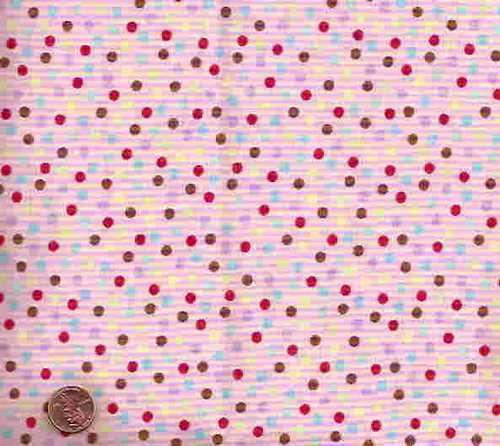 Monkey n Round pink dots Moda fabric