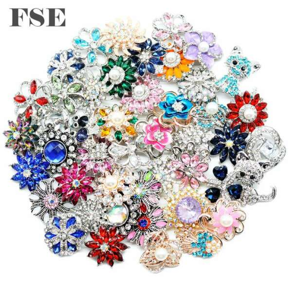 Wholesale 18mm Snap Button Mix Rhinestone Snap Charms For 20mm Snap Jewelry 8017