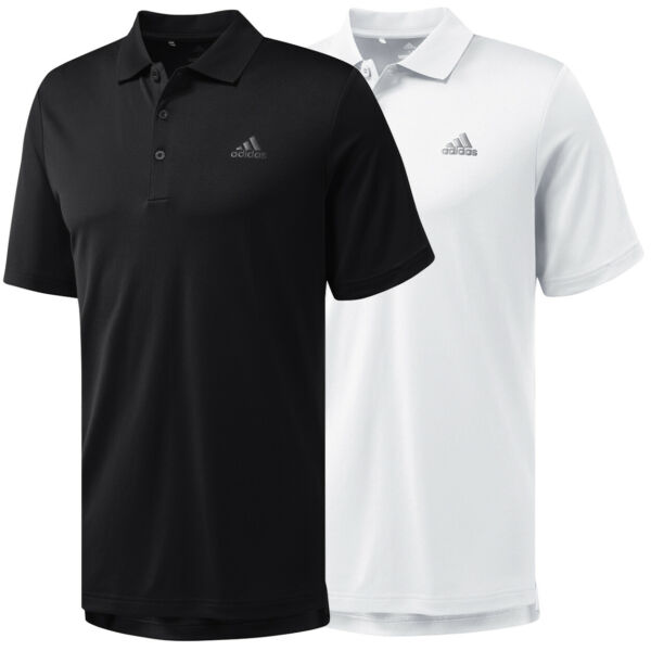 Adidas Golf Men#x27;s Performance Solid Polo Shirt Brand New