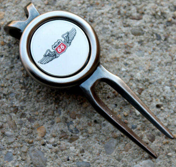 PHILLIPS 66 OIL GAS ENERGY AMERICAN ROUTE ICON Logo Golf Ball Marker Divot Tool $6.99