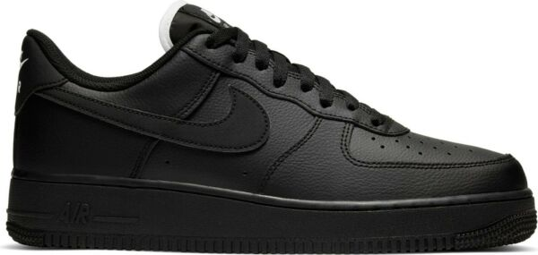 New NIKE Air Force 1 Low leather Athletic Sneaker Mens black white all sizes