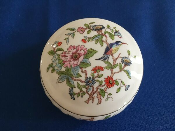 AYNSLEY PEMBROKE Large BOX DISH with Lid Candy Jewelry Made in England