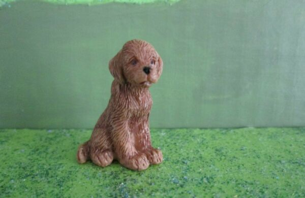 Miniature Ginger the Brown Puppy Dog for Fairy Gnome Garden Dollhouse Pet NEW $3.95