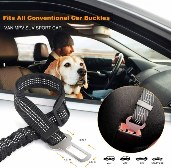 Car Seat Belt for Pet Dog Safety Travel Adjustable Retractable Auto Universal $10.36
