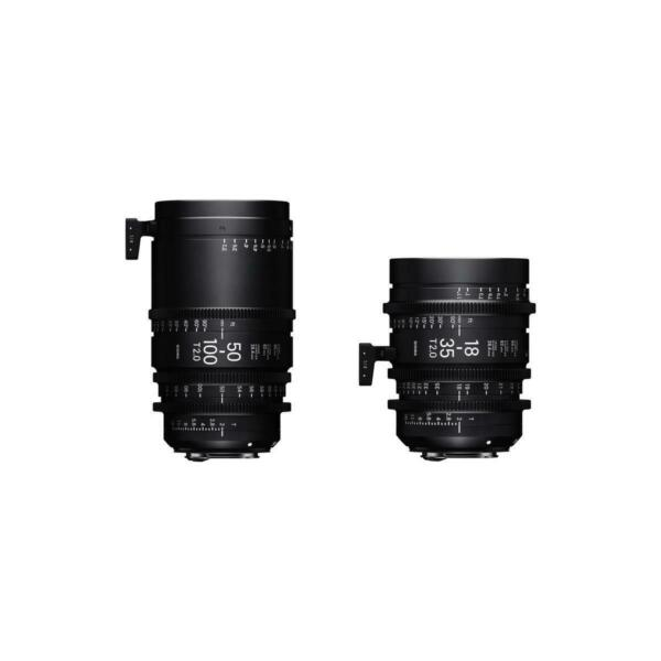 Sigma 18-35mm T2  50-100mm Cine High-Speed Zoom Lenses for PL Mount with Case