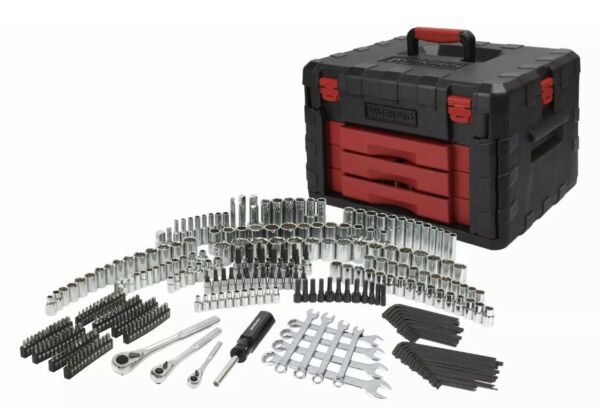 Tool Set with Storage Case 320-Piece Mechanic's Sockets Ratchets Repair Tool New