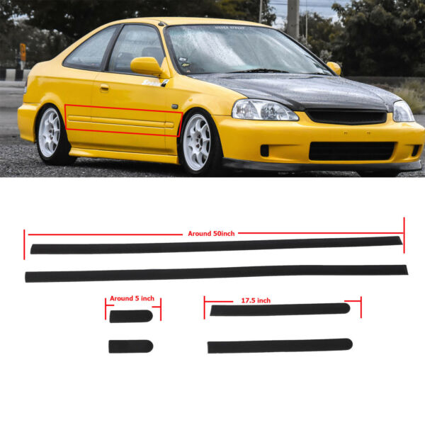 Thin Body Side Door protective moldings Panel Molding For Civic 92-95 2dr