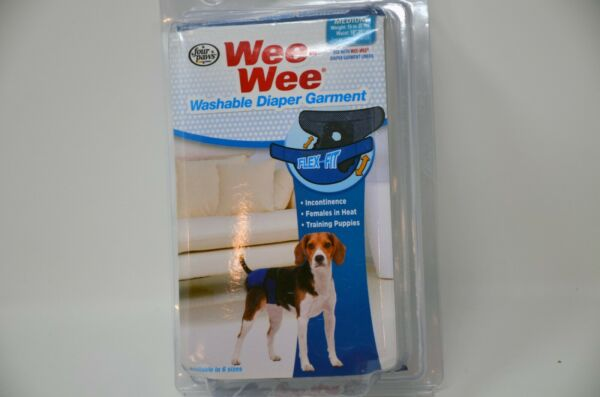 Four Paws Wee Wee Diaper Garment Medium 15 35 lbs Dog Washable bx4 $11.95