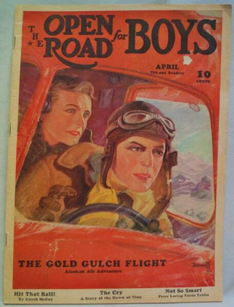 THE OPEN ROAD FOR BOYS MAGAZINE APRIL 1937 ACTION amp; ADVENTURE STORIES $8.49