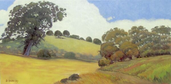 CALIFORNIA LANDSCAPE BY J.D. RASBERRY WELL LISTED ARTIST ORIGINAL OIL PAINTING
