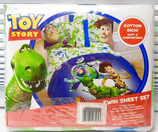 New Toy Story Disney's Army Men Buzz Woody by Jay Franco 3pc Kids Twin Bed Set