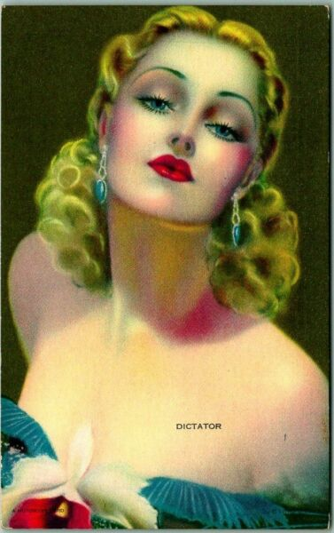 Vintage 1942 Pin-Up Girl Mutoscope Card