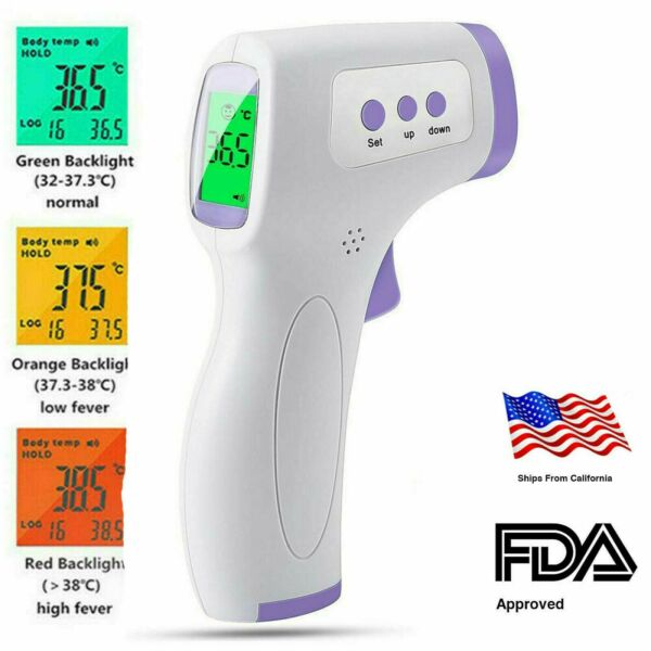 Infrared Forehead Thermometer NON-CONTACT Digital Body Adult Fever FDACE +++