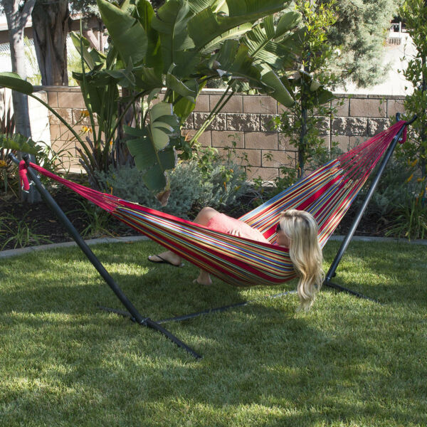 NEW 10ft Double Hammock Stand Patio Outdoor Portable with Carrying Bag 4 Color $69.99