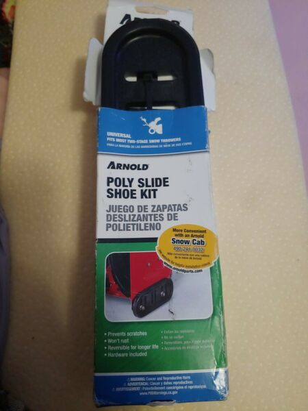 Arnold Poly Slide Shoe Kit Universal Fits Most Two-Stage Snow Thrower New In Box