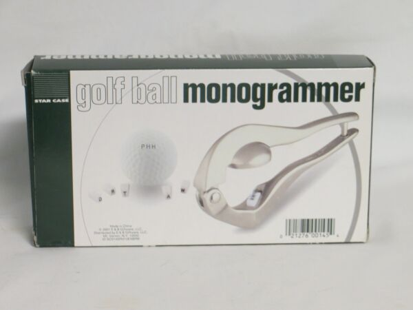 Star Case Golf Ball Monogrammer NIB Does 3 Letters with Simple Press Handle $6.80