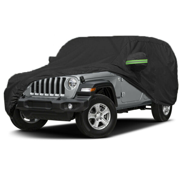 Full Car Cover Waterproof Snow Dust Protector Oxford For Jeep Wrangler Unlimited