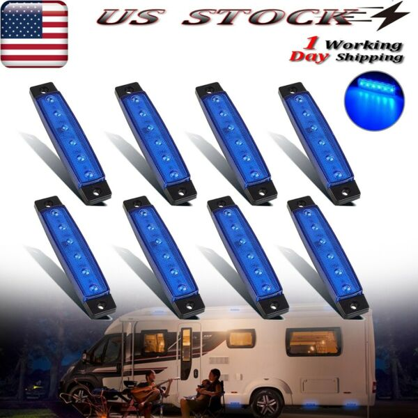 8X Camper RV Exterior White LED Porch Lights Utility Awning Decor Light
