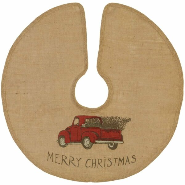 Red Truck Burlap Tree Skirt