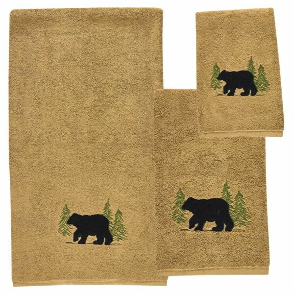 Black Bear Terry Towel