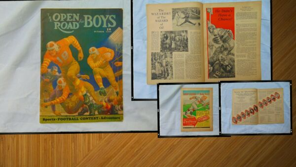 The Open Road for Boys Magazine OCT 1939 FOOTBALL Wizard of Oz Art Deco $35.00