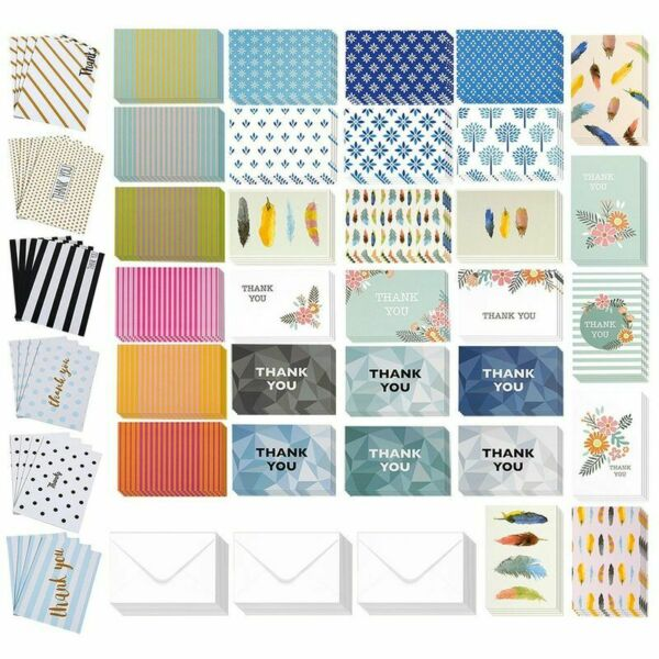 144 Pcs Thank You Cards Bulk Box Set 36 Assorted Design Note Cards amp; Envelopes