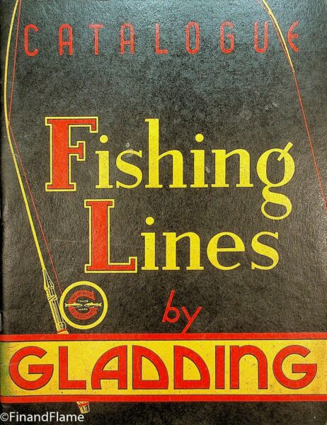Vintage #26 1930's Gladding Antique Fishing Line Catalog 31 Pages SJE350