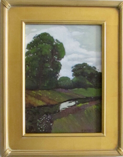 PLEIN AIR OF CALIFORNIA ORIGINAL OIL PAINTING BY LISTED ARTIST Nicely Framed