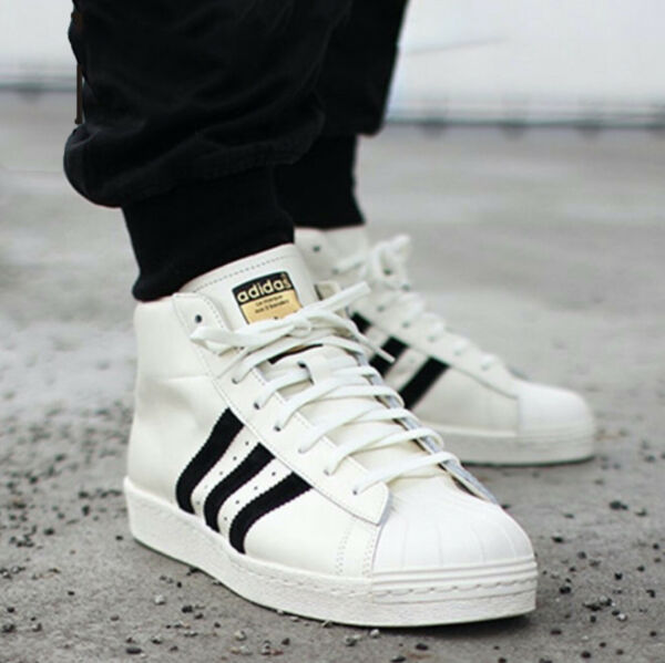New ADIDAS Originals Pro Model Leather Athletic Sneaker Mens white all size