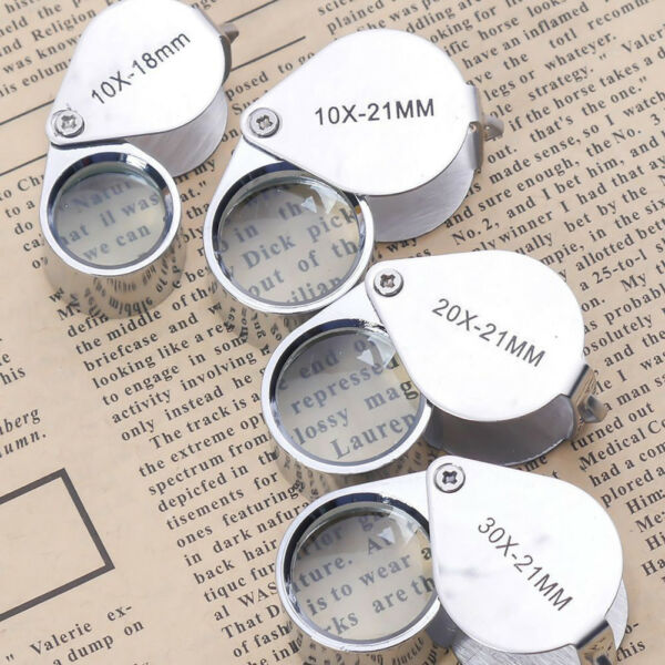 KQ_ 10x-30x 1821mm Glass Magnifying Magnifier Jeweler Eye Jewelry Loupe Loop Gr