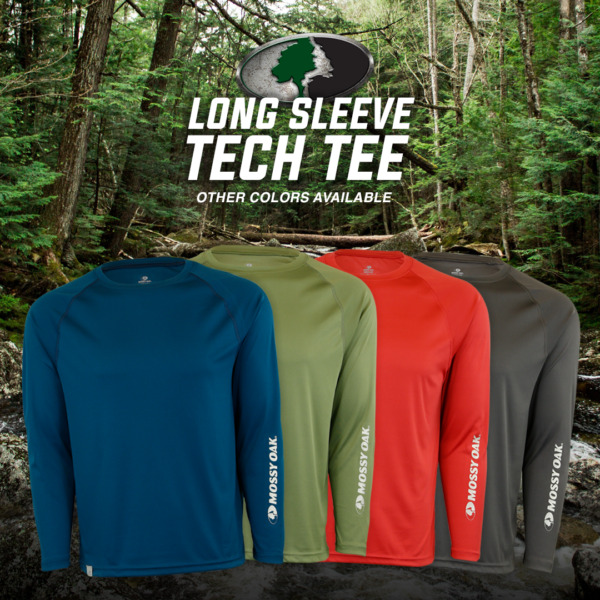 Mossy Oak Long Sleeve Casual Tech Tee
