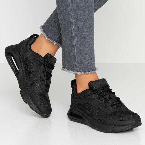 Nike Air Max 200 Triple Black AT6175003 Training Running Women's Shoes AUTHENTIC