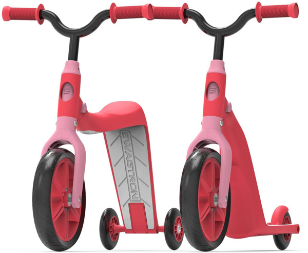 Swagtron K6 Toddler Scooter Convertible 4-in-1 Ride-On Balance Trike Training ?