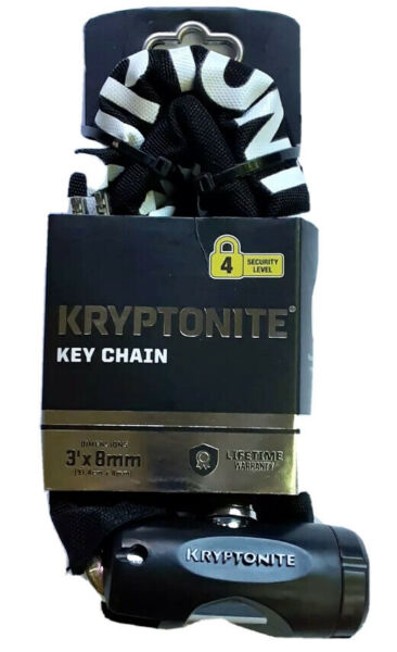 🚴🏾Kryptonite Key Chain Lock Bike Motorcycle Scooter Level 4 Security 3ft x 8mm $34.98