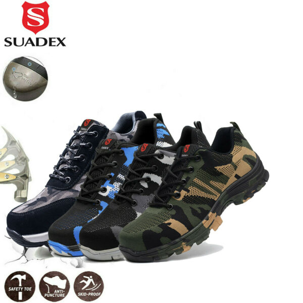 Mens Work Safety Shoes Indestructible Steel Toe Cap Boots Sneakers Shoes $39.99