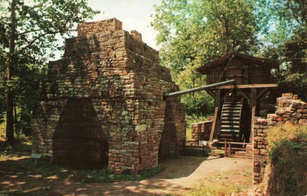 Postcard Hopewell Villiage Furnace And Water Wheel $4.50