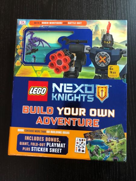 NEW Lego Set Nexo Knights Build Own Adventure Book Minifigure Castle Vehicle