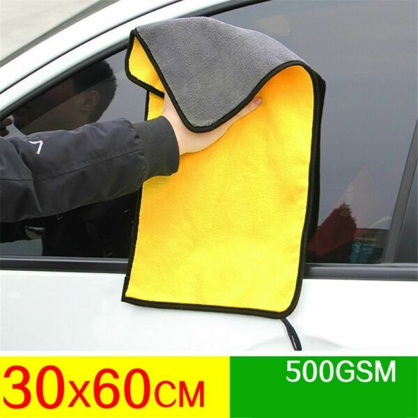Microfiber Car Wash Towel Ultra Absorbent Auto Cleaning Drying Hemming Cloth Rag $11.69