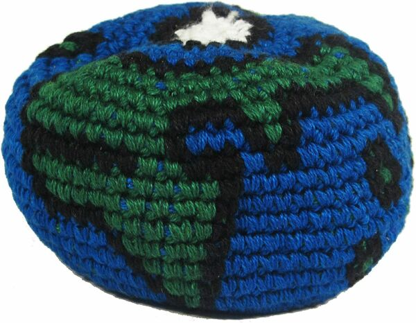 Hacky Sack Blue and Green World $8.00