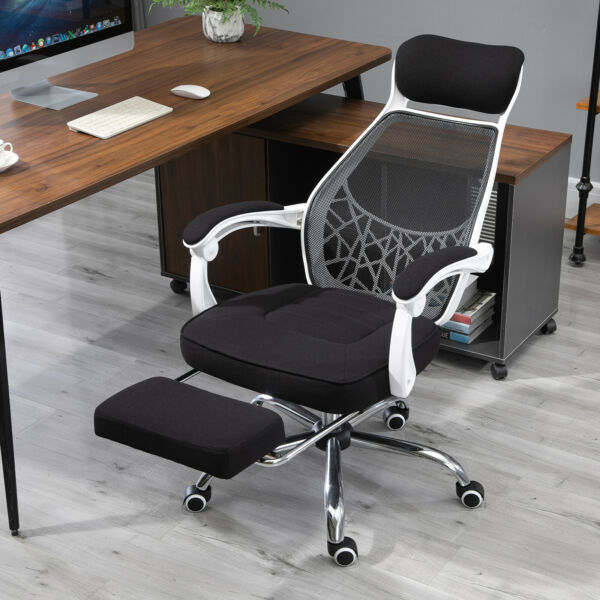 Vinsetto 360° High Back Computer Adjusting Height Recliner Chair w Footrest