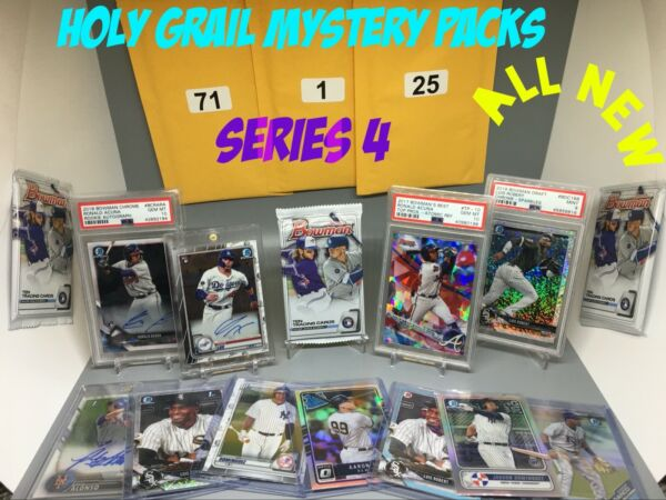 NEW 💎SERIES 4 💎 HOLY GRAIL BASEBALL MYSTERY PACK + ROOKIES CHASES LUX ROBERTS