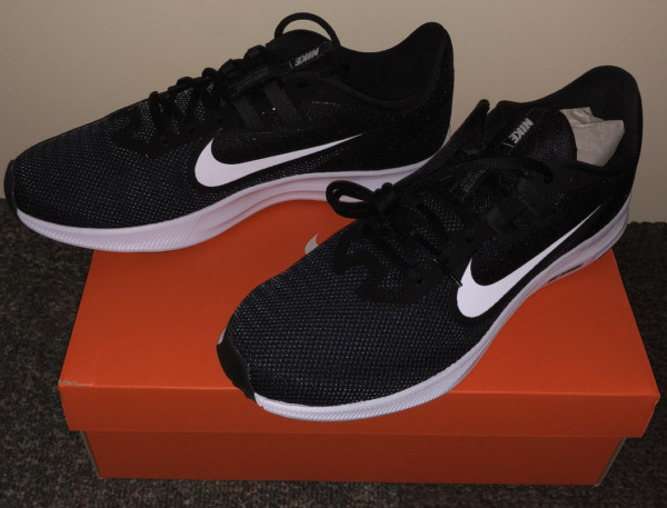 Nike Downshifter 9 Men Shoes Athletic Running Walking Sneaker Black and White
